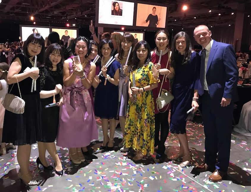 チームメンバーと。2018-USコンベンションGALAパーティ